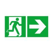 Wyjście ewakuacyjne prawe ze strzałką w prawo