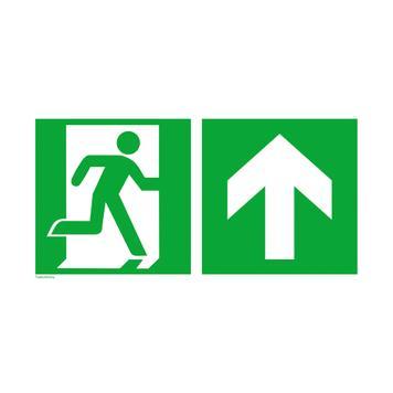 Wyjście ewakuacyjne prawe ze strzałką w górę