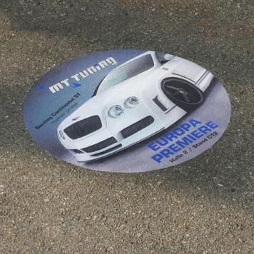 Naklejka na asfalt