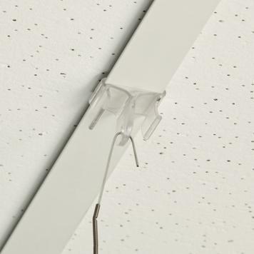 Klips sufitowy z tworzywa sztucznego, hak 90° do sufitu podwieszanego