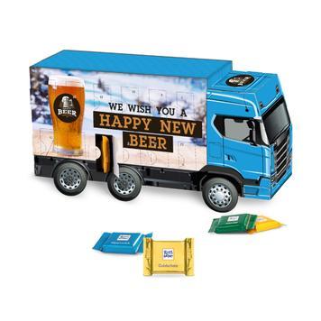 Ciężarówka adwentowa z czekoladkami Ritter