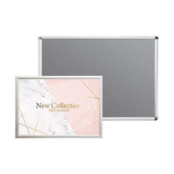 Rama zaciskowa, profil 25 mm, anodowana na kolor srebrny, narożniki ścięte po skosie / półokrągłe