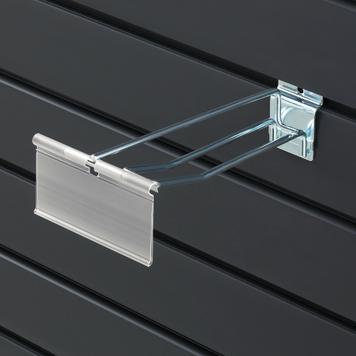Hak podwójny do ściany panelowej z kieszonką wahadłową