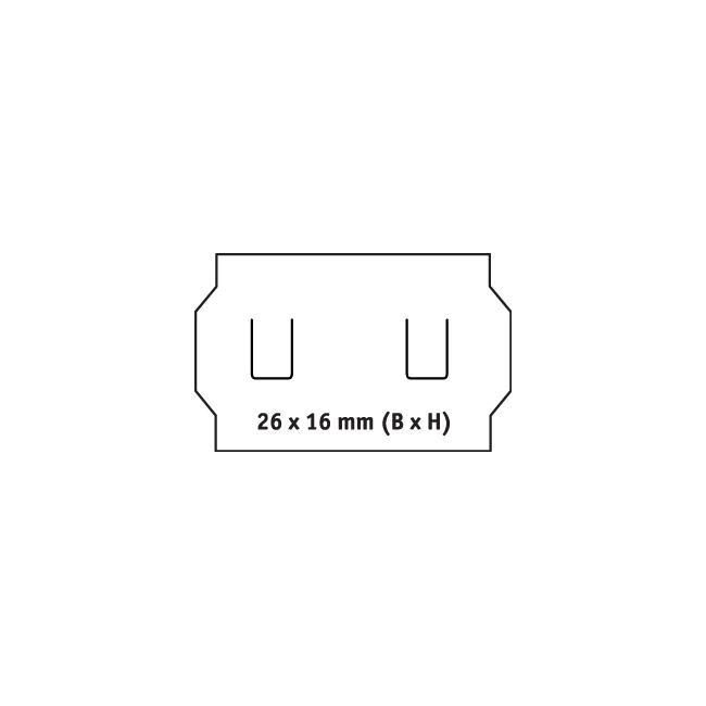Etykietki do metkownicy, 2-liniowe