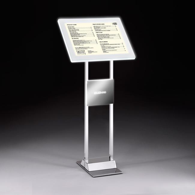 Stojak z ramką magnetyczną LED