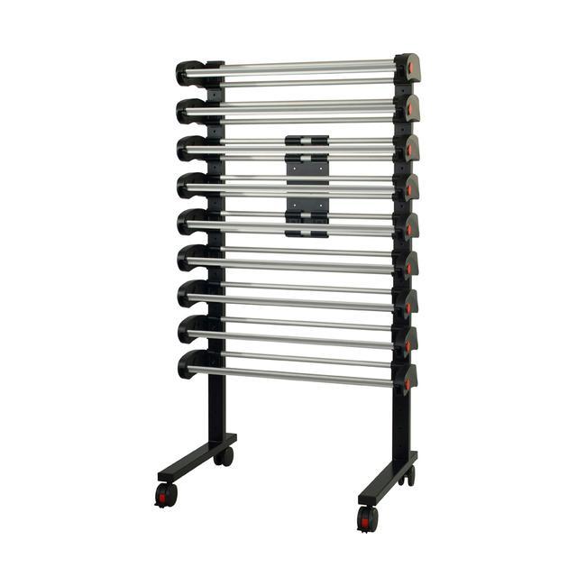 Mobilny stojak Multi-Vario z 9 rolkami