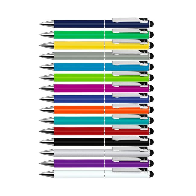 """Długopis obrotowy z metalu """"Straight Si Touch"""" z końcówką do obsługi ekranów dotykowych"""