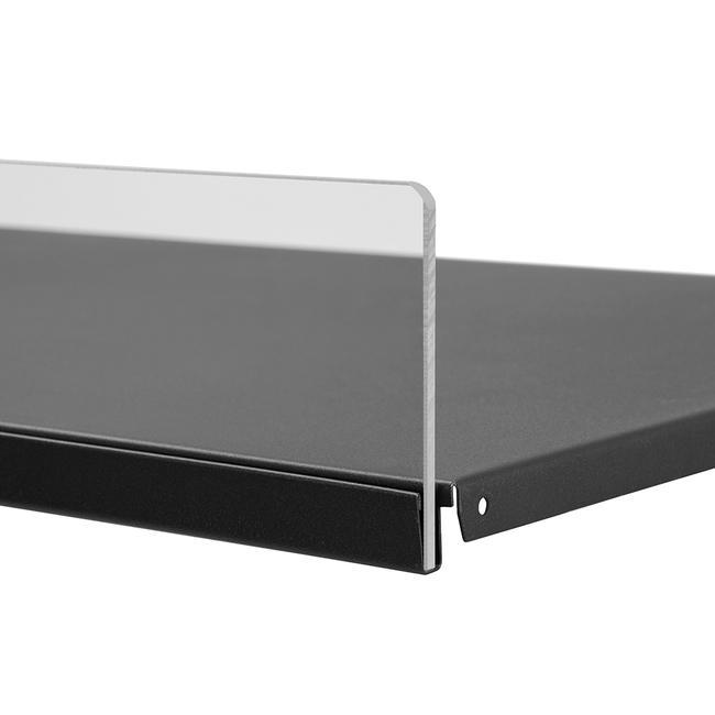 Osłona frontowa 5 mm, listwa wtykowa do półek metalowych