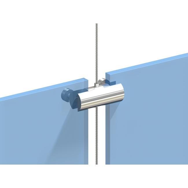 Uchwyt podwójny do systemu linkowego z możliwością ymocowania 2 tabliczek