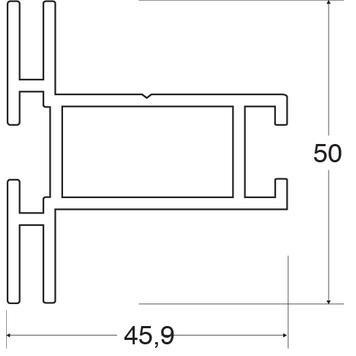 """Długość magazynowa """"Stretch Rahmenprofil 50"""""""