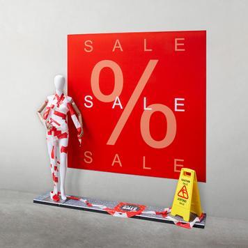 "Rama tekstylna z bannerem ""Sale"""