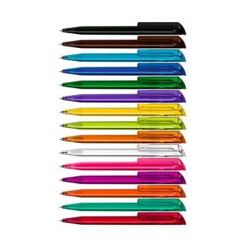 Długopis obrotowy POP z dużym klipsem z tworzywa sztucznego