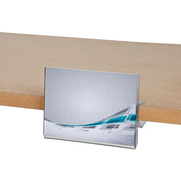 Uchwyt cenowy do półek regałowych 105 x 74 mm