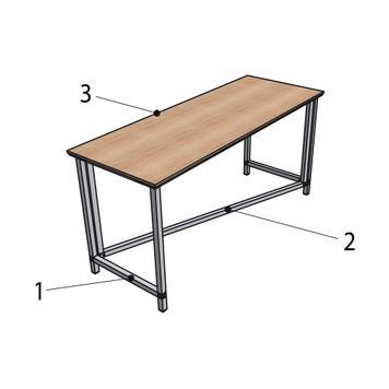 """Elastyczny stół prezentacyjny """"Construct"""""""