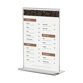 Uchwyt do kart menu Arum z taśmą piankową 2 x 19