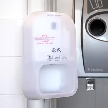"""Stacja higieniczna """"Score"""" z urządzeniem do dezynfekcji rąk Steripower"""