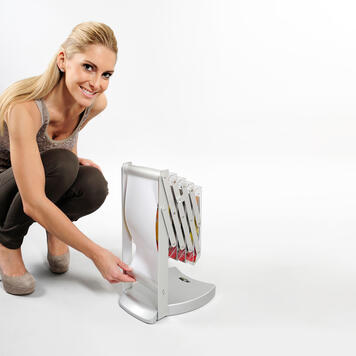 "Składany stojak na prospekty ""Smart Zip"" A5"
