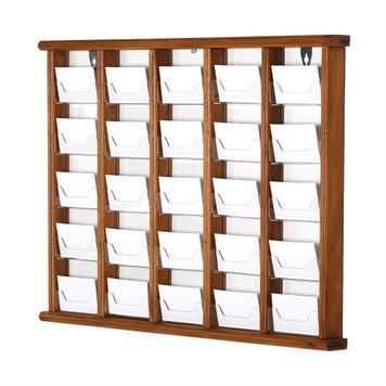 Kieszonki na wizytówki w drewnianej obudowie