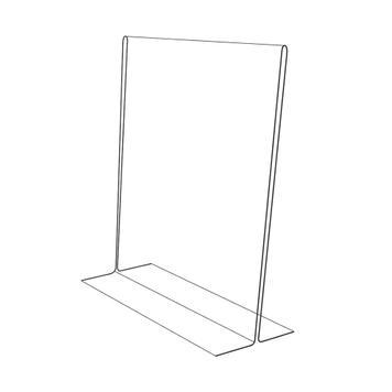 """Stojak do kart menu """"T"""" w formatach DIN, krystaliczny, 2 mm"""